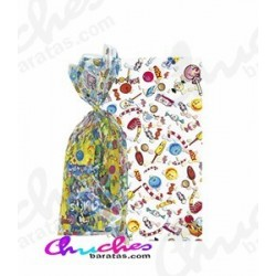 100 Bolsa rectangular sweet party 20x12