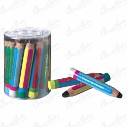 Milk chocolate pencils