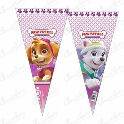 Dog patrol cone bag girls 40 cm x 20 cm 50 units