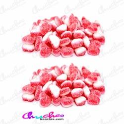 Mini strawberry heart cream sugar