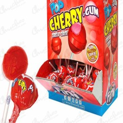 Pop cherry + gum 100 unidades