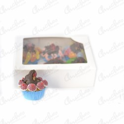 Box cups cake 6 units blue