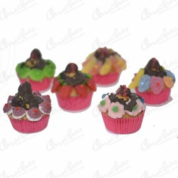 Box cups cake 6 units pink