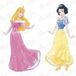 Princess silhouettes 30 cm 2 units