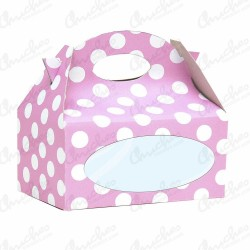 Box with pink window polka dots 12 units