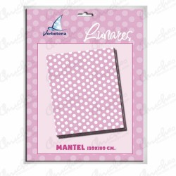 Tablecloth 120x 180 cm pink polka dots