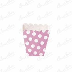 Cajita pop baja rosa lunares 12 unidades