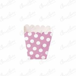 Low pop pink box with polka dots 12 units