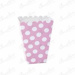 Cajita pop alta rosa lunares 12 unidades