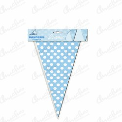 Banderin 3 m blue polka dots
