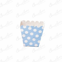 Low pop blue polka dot box 12 units