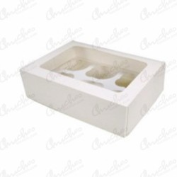 Caja vacia cup cake blanco