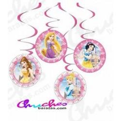 Colgantes decorativos princesas disney  4 unidades
