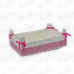 Caja madera rosa