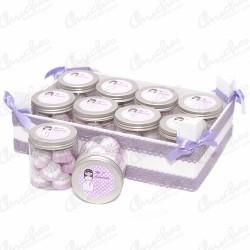 Lilac box plus 10 boats 1st communion