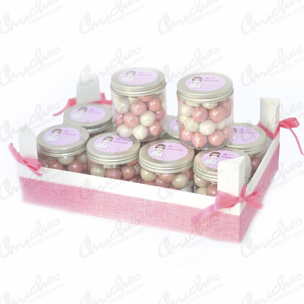Caja rosa mas 10 botes 1 comuni n chuches baratas - Cajas de madera para chuches ...