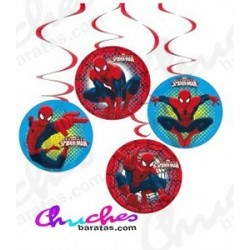 Colgantes decorativos spiderman 4 unidades