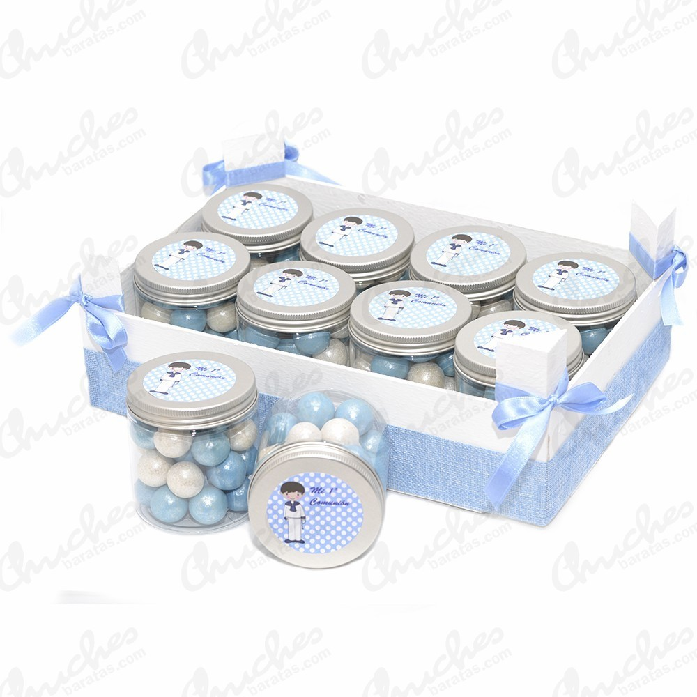 Blue Box Plus 10 Boats 1st Communion Chuches Baratas