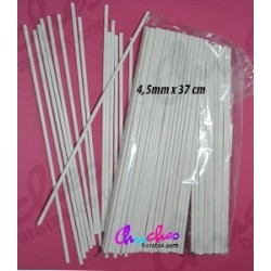 Plastic stick white 4, 5 mm x 37 cm 100 units