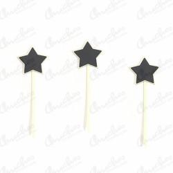 Set of 4 star blackboards Game of 4 star blackboards