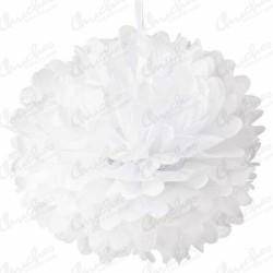 Fluffy PomPom Pendant Color White (3 of 40,6 cm)