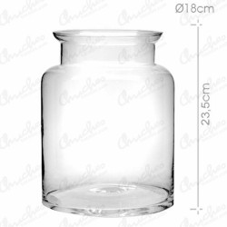 Bombonera cristal cuello ancho 23 x 18
