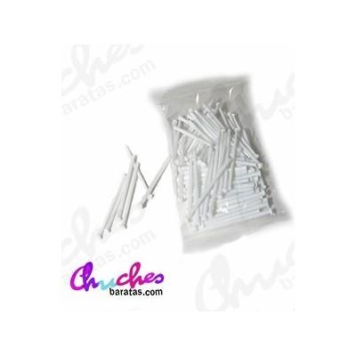 Palo plástico blanco  7 cm 100 unidades
