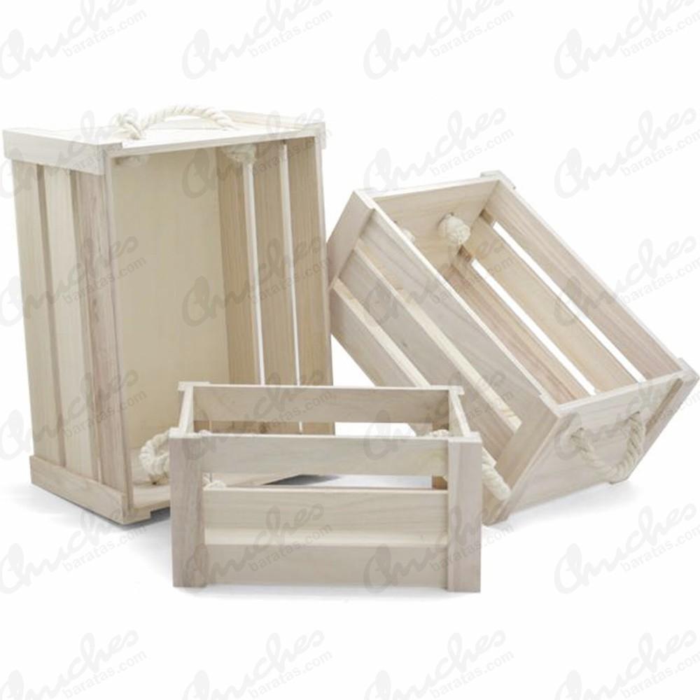 Juego 3 cajas madera grandes chuches baratas - Cajas para cocina ...