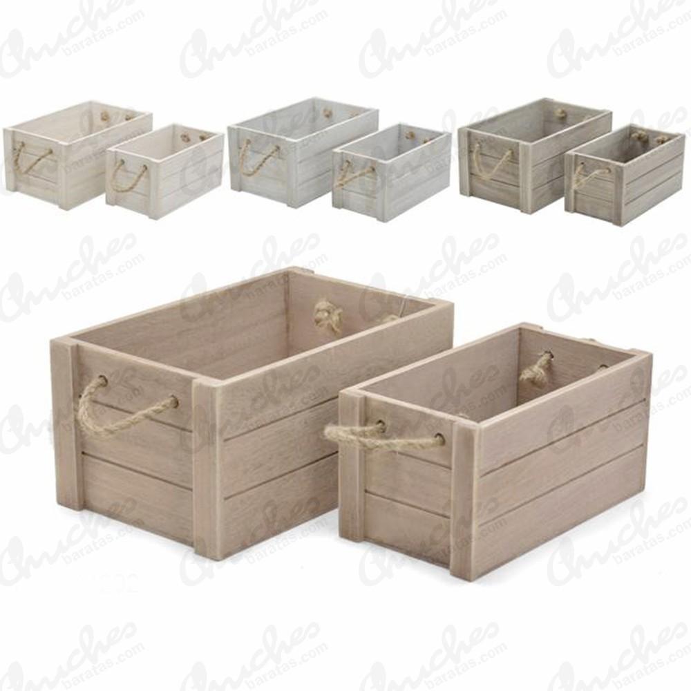 Juego 2 cajas madera medianas chuches baratas - Cajas de madera para chuches ...