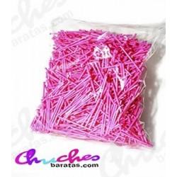 Palo plástico rosa  7 cm 1900 unidades