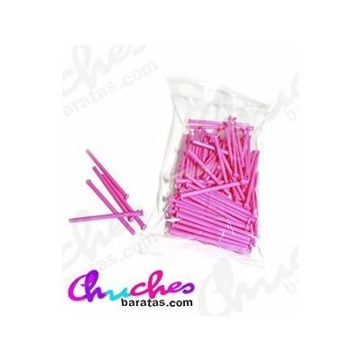 Palo plástico rosa  7 cm 100 unidades