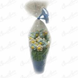 Sweet flowerpot blue daisies