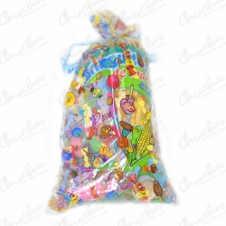 Rectangular bag stuffed large sweets 20 units