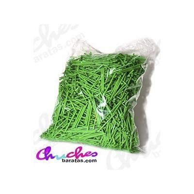 Palo plástico verde  7 cm 1900 unidades