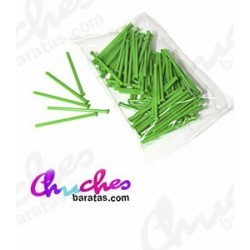 Green plastic stick 7 cm 100 units