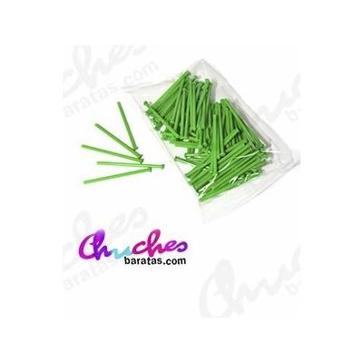 Palo plástico verde 7 cm 100 unidades