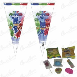 Stuffed cone bag Pjamaskas 20 units 40 x 20 cm