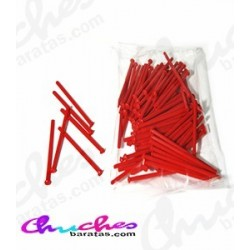 Palo plástico rojo  7 cm 100 unidades