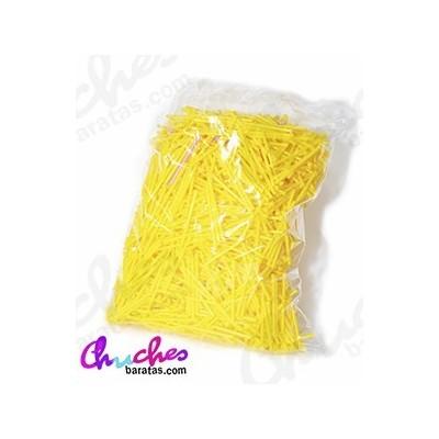 Palo plástico amarillo  7 cm 1900 unidades