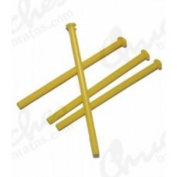 Palo plástico amarillo 7 cm 100 unidades