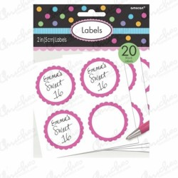 Candy Stickers (20) Pink