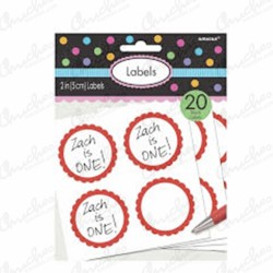 Stickers Candy (20) red
