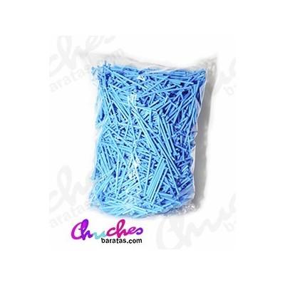 Palo plástico azul 7 cm 1900 unidades