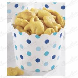 Vasos Tarrinas Snacks Puntos azules (36)