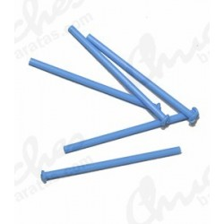 Palo plástico azul  7 cm 100 unidades