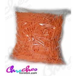 Palo plástico naranja  7 cm 1900 unidades