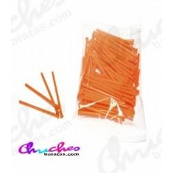 Palo plástico naranja 7 cm 100 unidades
