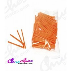Plastic stick orange 7 cm 100 units