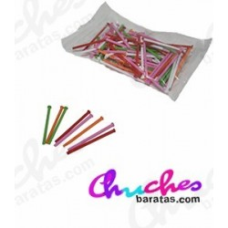 Multi-colored plastic stick 7 cm 100 units