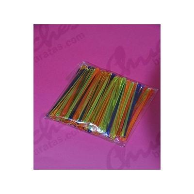 Pincho plástico multicolor 8 cm 100 unidades